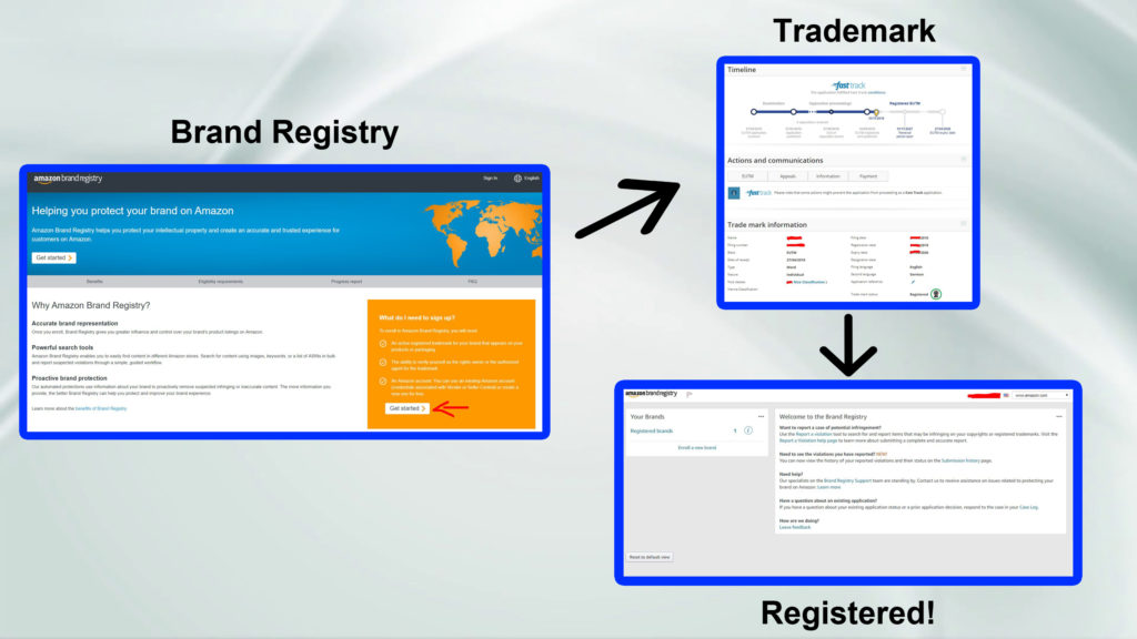 how to use amazon brand registry